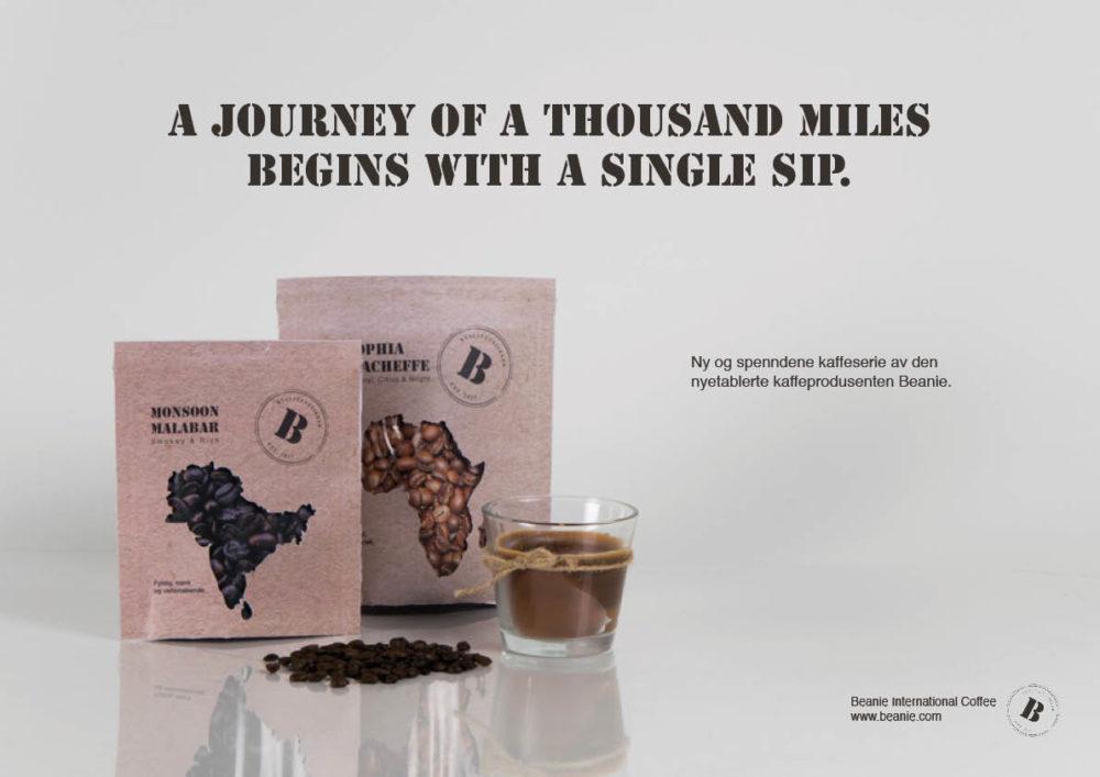Martine Johansen med Identitet og emballasje for kaffebrenneri (Skoleoppgave)