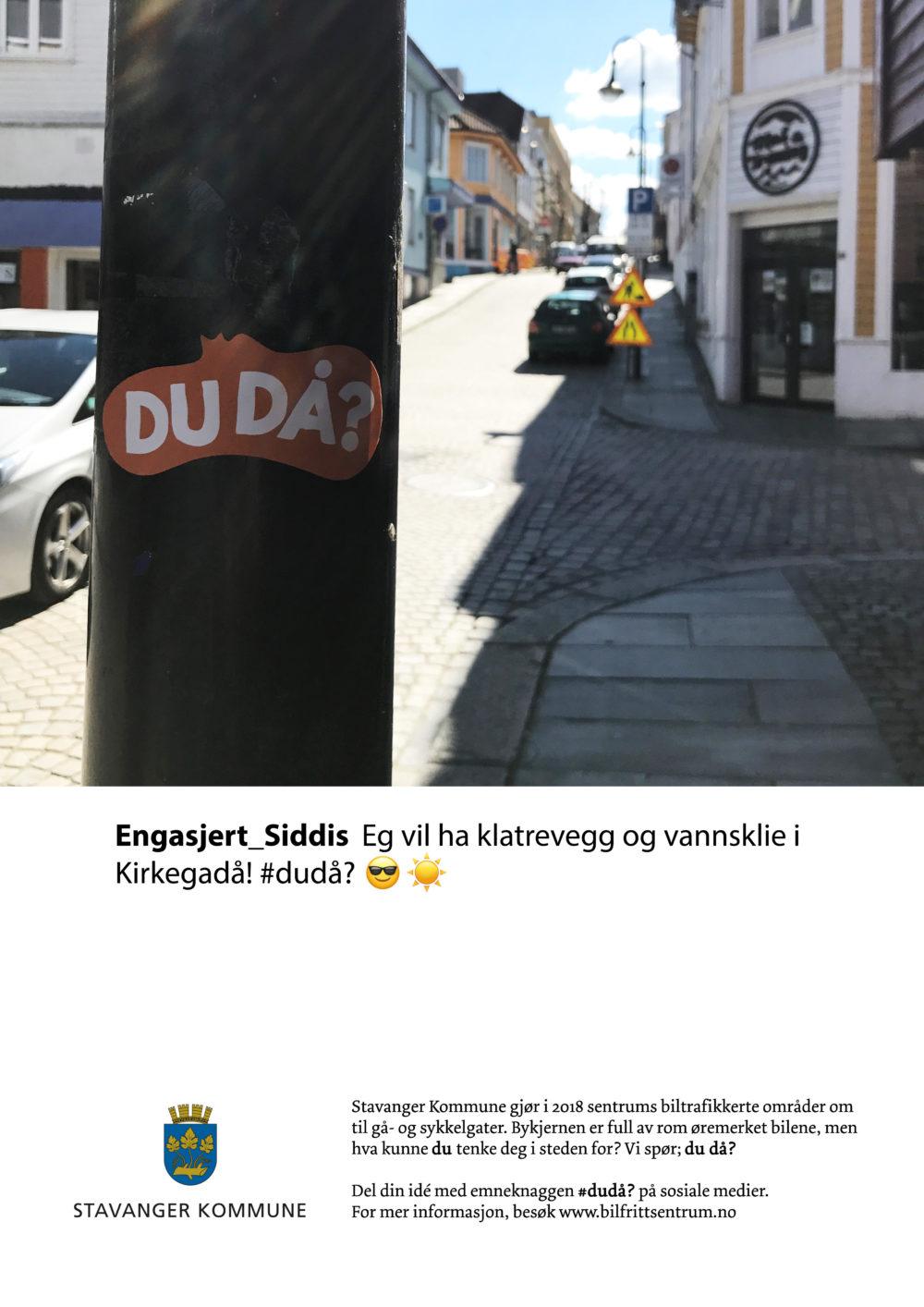 Annelin Müntzer-Høyvik med Du då? -Kampanje for en bilfri bykjerne (studentoppgave)
