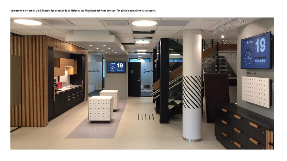 Procontra AS med Utstillingsdesign og navigering i nytt kommunalt Helsehus i Stavanger