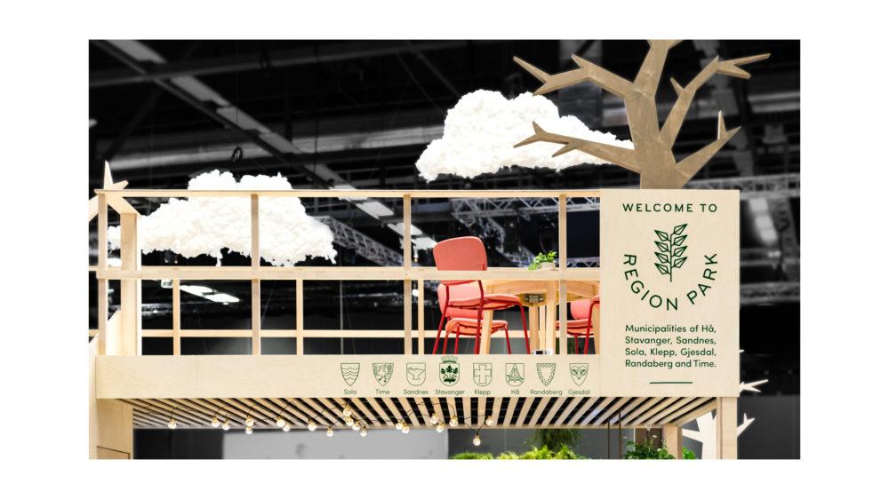"""procontra med """"Region Park"""" art direction, design og gjennomføring - Nordic Edge 2019"""