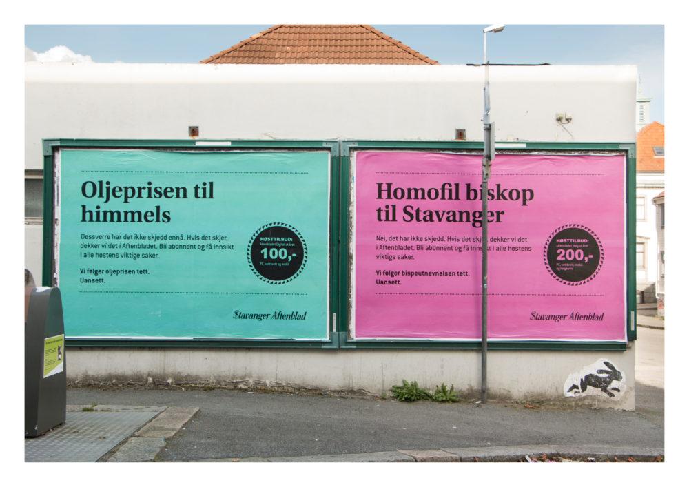 Melvær&Co med Boards Stavanger Aftenblad. Kategori: Print.