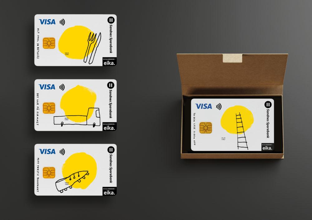 Fasett med Helt nye bankkort