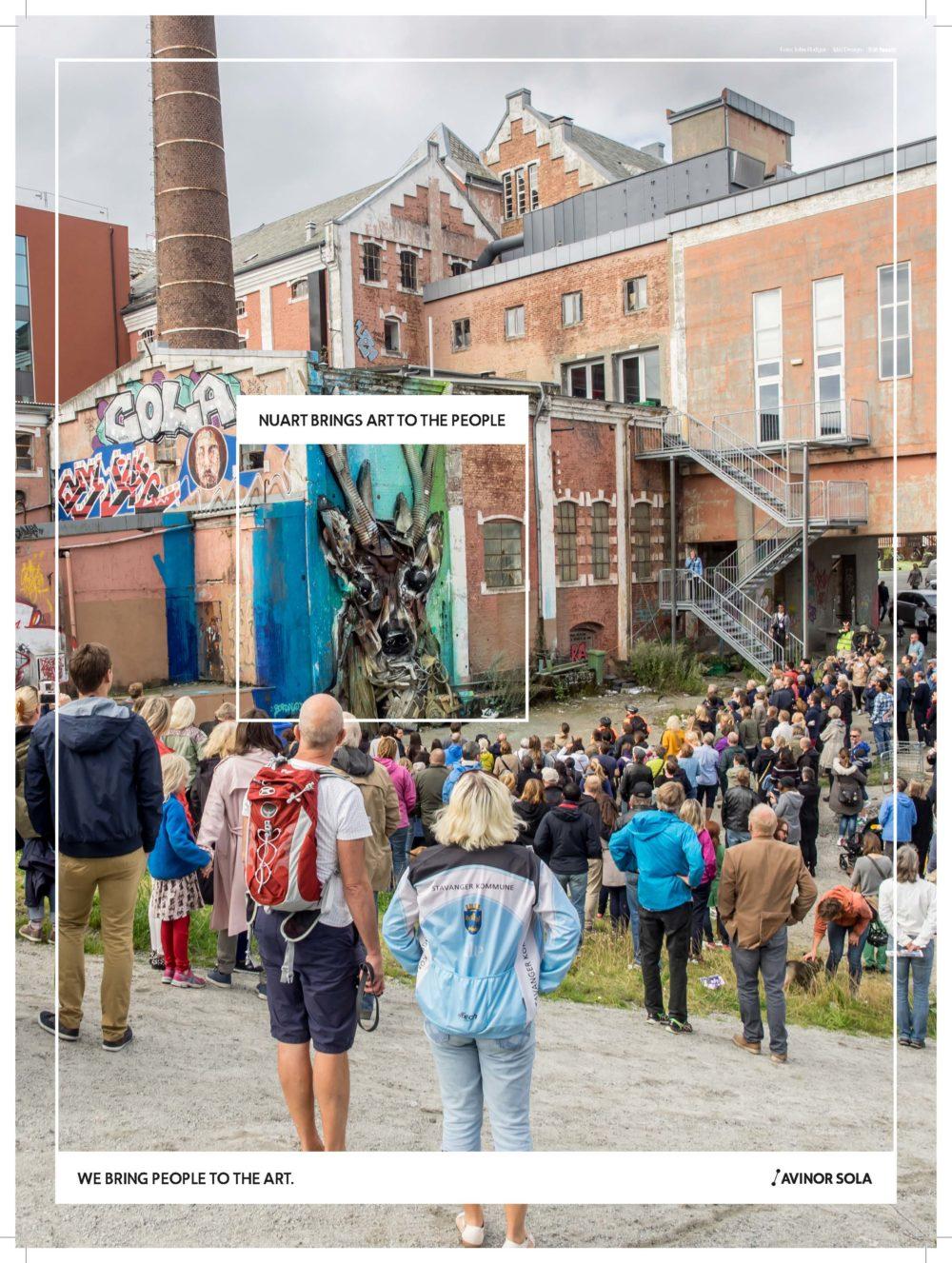 FASETT med Avinor Sola sponser streetartfestivalen NuArt